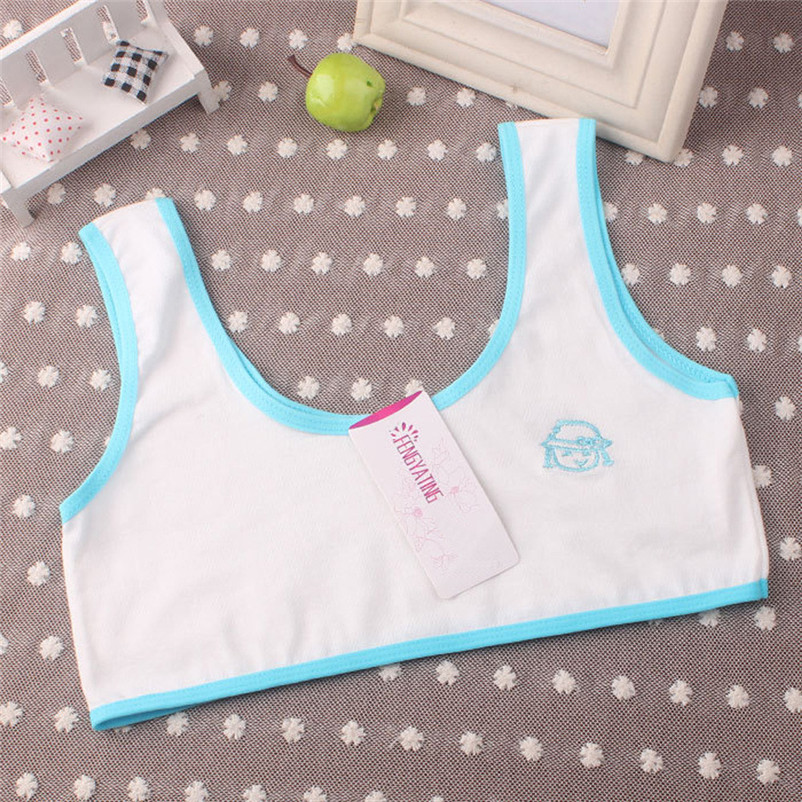 Children Underwear Girls Vest New Sport Print 10-14-Years Bra Undies Hot-Sale Lovely