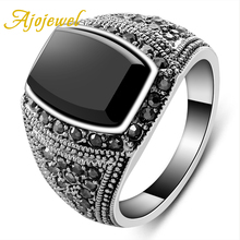 цена на Free shipping!! fashion jewelry the 18k white gold plated black silicone finger ring for the men 2477