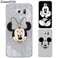 DREAMFOX L136 Fashion Mickey Mouse Soft TPU Silicone Case Cover For Samsung Galaxy Note S 3 4 5 6 7 8 9 Edge Plus Grand Prime