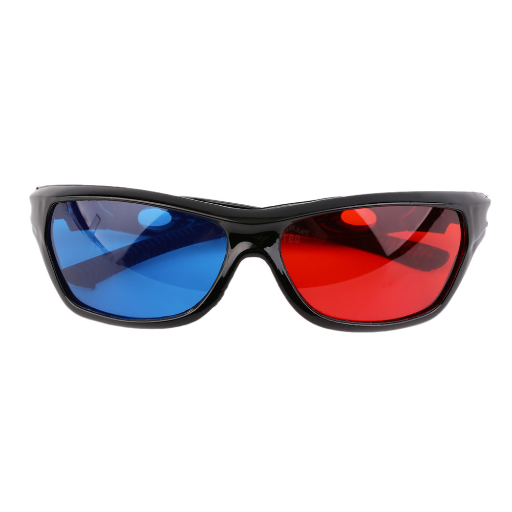 2016 Black Frame Universal 3D Plastic glasses/Oculos/Red Blue Cyan 3D glass Anaglyph 3D Movie Game DVD vision/cinema Wholesale image