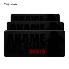YuzuoanCool, новинка, Akame ga KILL Death, сделай сам, дизайн, игровой с узором, аниме, коврик для мыши, размер для 900*400*3 мм, прорезиненный большой коврик для мыши