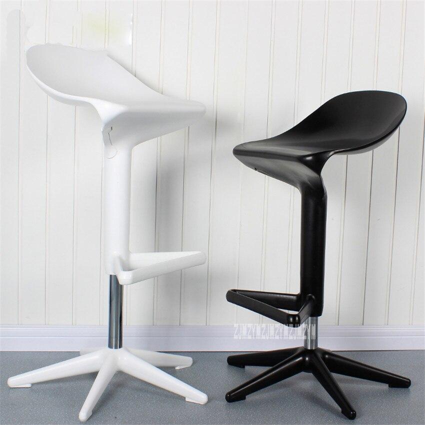 2PCS/Set Modern European Creative Spoon Design Swivel Barstool ABS High Bar Chair Rotating 57-76CM Height Adjustable Bar Chair