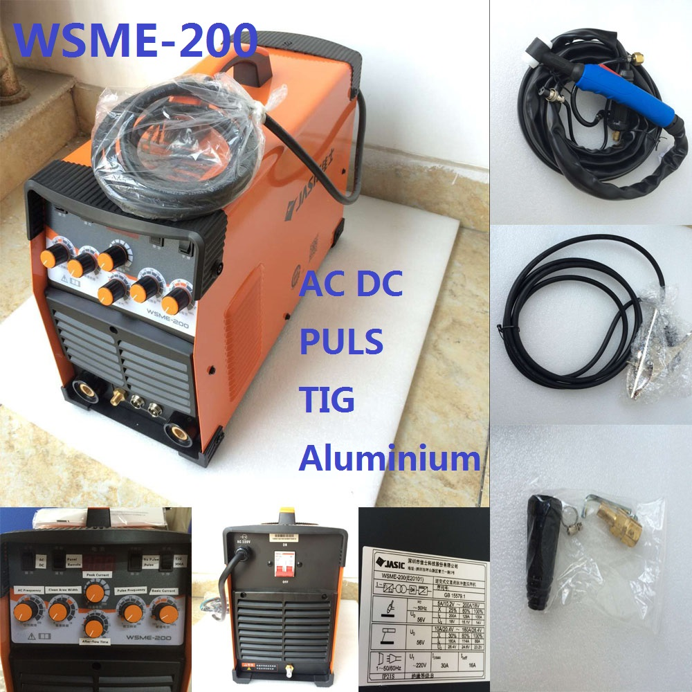 WSME-200 AC DC Pulse TIG Welder Welding Machine Aluminium MMA 220V TIG-200 TIG-200P welding machine parts professional 200a digital ac dc pulse tig welding machine ac dc pulse tig mma ce approved igbt inverter tig aluminum welding