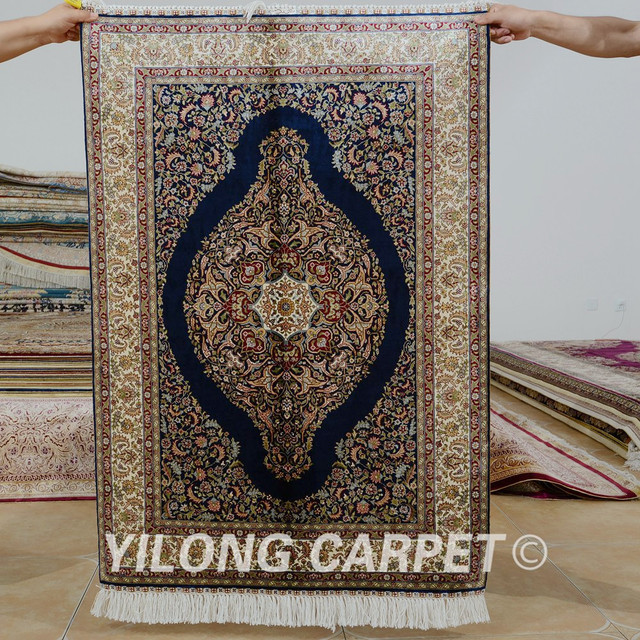 Yilong 27x4 Tabriz Silk Carpet Red Vantage Handmade Exquisite Turkish Rug Prices