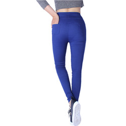 2018 New Sexy Skinny Size XL-XXXXXL Leggings Women Legging Pocket Solid High Waist Elastic Ankle-Length Pencil Pants Black White 4