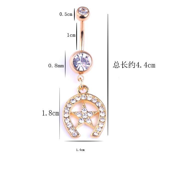 HTB1zuv9KpXXXXbEXpXXq6xXFXXX6 Exquisite Body Piercing Jewelry Party Navel Ring - 18 Styles