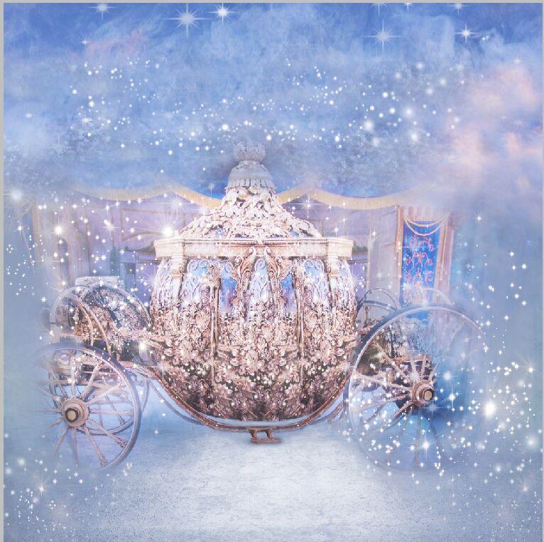 10x10ft Cinderella Princess Gold Carriage Coach Cart