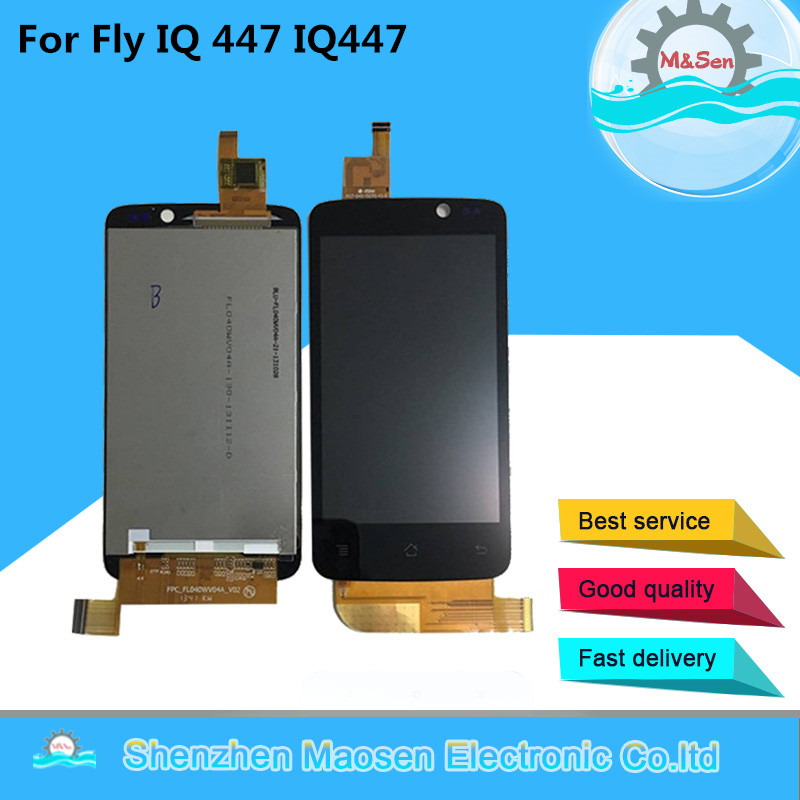 Original M & Sen Für Fly IQ447 IQ 447 LCD screen display + touch screen panel digitizer für Für Fly IQ447 IQ 447 display ersatz