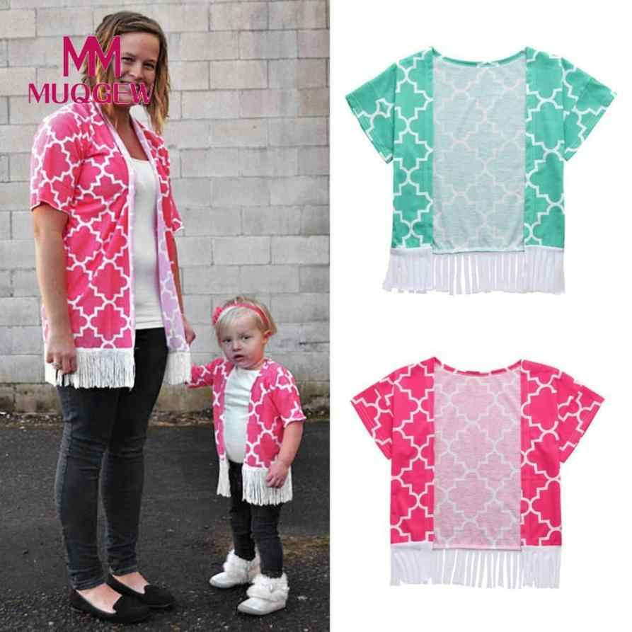 7b9a8c651e MUQGEW MomMe mother daughter Beach cover up dress tunic Baby Toddler Girls  Boho Style Kimono Oversized
