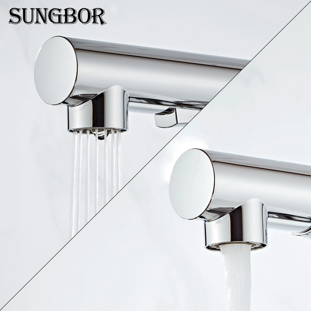 kitchen faucet head quality Brass chrome Pull Out kitchen sink faucets Mixer tap grifo cocina robinet cuisine torneira CF-9116H