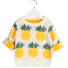 kids sweater baby girl sweaters pineapple girls clothes New Spring Children's Clothing Fashion 1-6Yrs Children's sweater