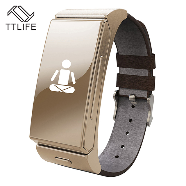 TTLIFE Brand Personal Smart Wearable Bracelet Heartrate Monitor Remote Camera Watch Bluetooth Headset for IOS Android Smartphone