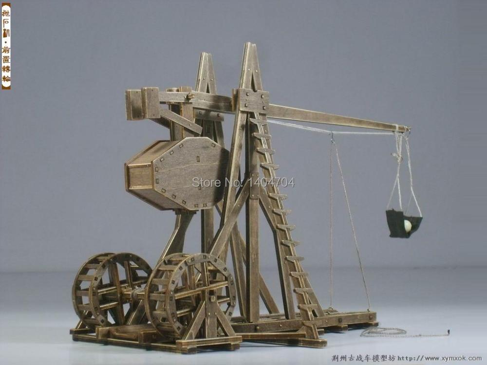 The Age of empires model kits mangonel Trebuchet  Wooden Model Puzzle kits end table
