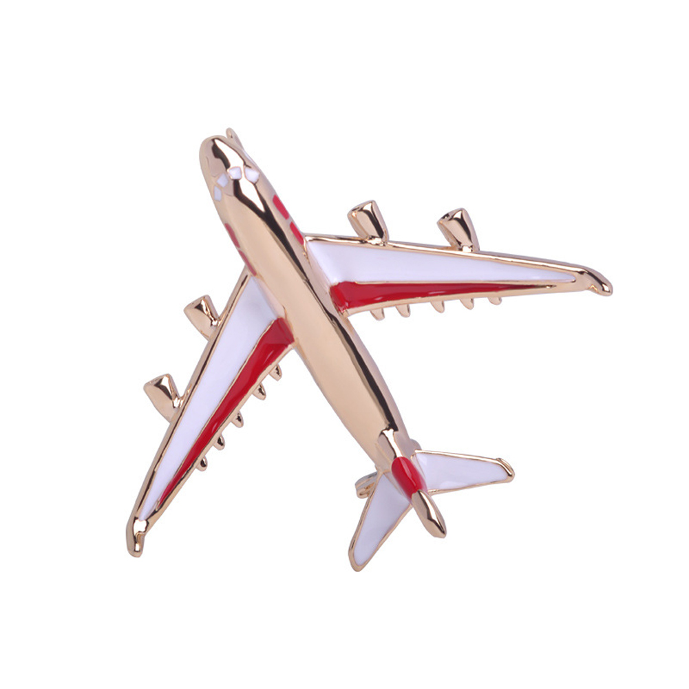 Popular  Plane Brooch  Funny  Gift Trend Original Modern Selling Vogue Personality Shirt Pins Available