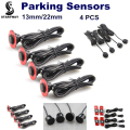 New Car Parking Sensors Assistance Backup Radar Monitor System 13mm/22mm Adjustable Car Reverse Parking Sensor 4PCS