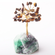 8CM Tall tiger eye Crystal Lucky Money Stone Tree Figurine Ornaments Feng Shui for Wealth Luck Home Office Decor Birthday Gift born lucky money hangs on the authentic burma stone ruyi fall bat 1