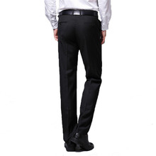 Mens trousers Business Slim straight Black Suit pants Dress to work Free Hot More size 28-38 40