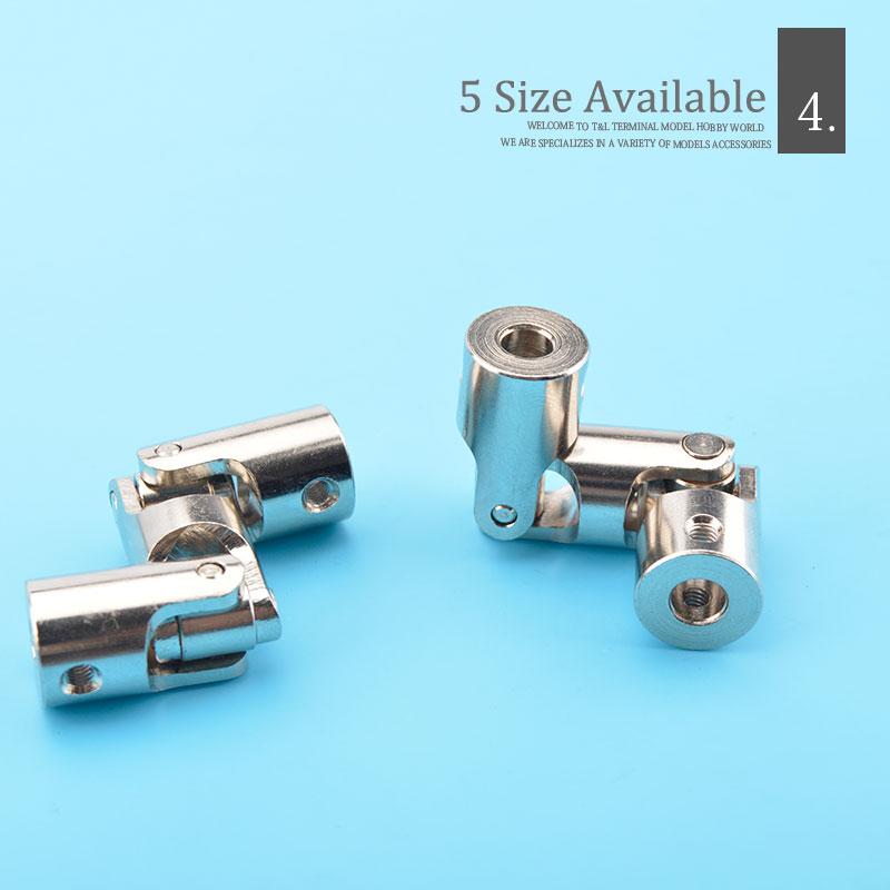 2X Rc Doppel Universal Gelenk Kardan Gelenk Gimbal Kupplungen mit Schraube, R6M4