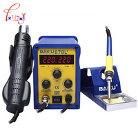 1pc BAKU BK 878L2 Led Digital Display SMD Brushless Hot Air Rework Station Soldering Iron And