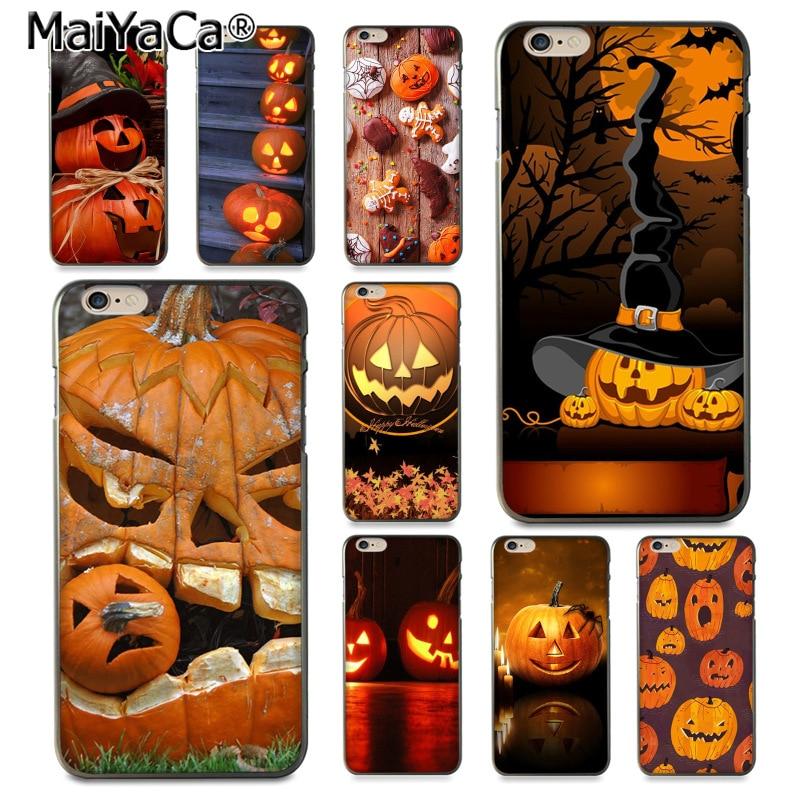 Gerleek Glass Halloween Scary Pumpkin Novelty Fundas Case Cover For Xiaomi Mi 8 Lite 9 A1 A2 Redmi Note 5 6 7 Pro 6a 4x F1 Half-wrapped Case