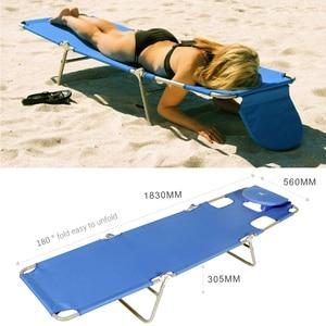 Image 2 - BLUERISE Portable pliable mobilier dextérieur pêche sauvage loisirs plage tabouret soleil sincliner ou poser bronzage ou obtenir un massage