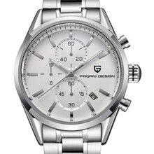 Top Brand Luxury PAGANI DESIGN Multifunction Sport Watches Men Stainless Steel Quartz Watch Dive 30m Clock Men Relogio Masculino