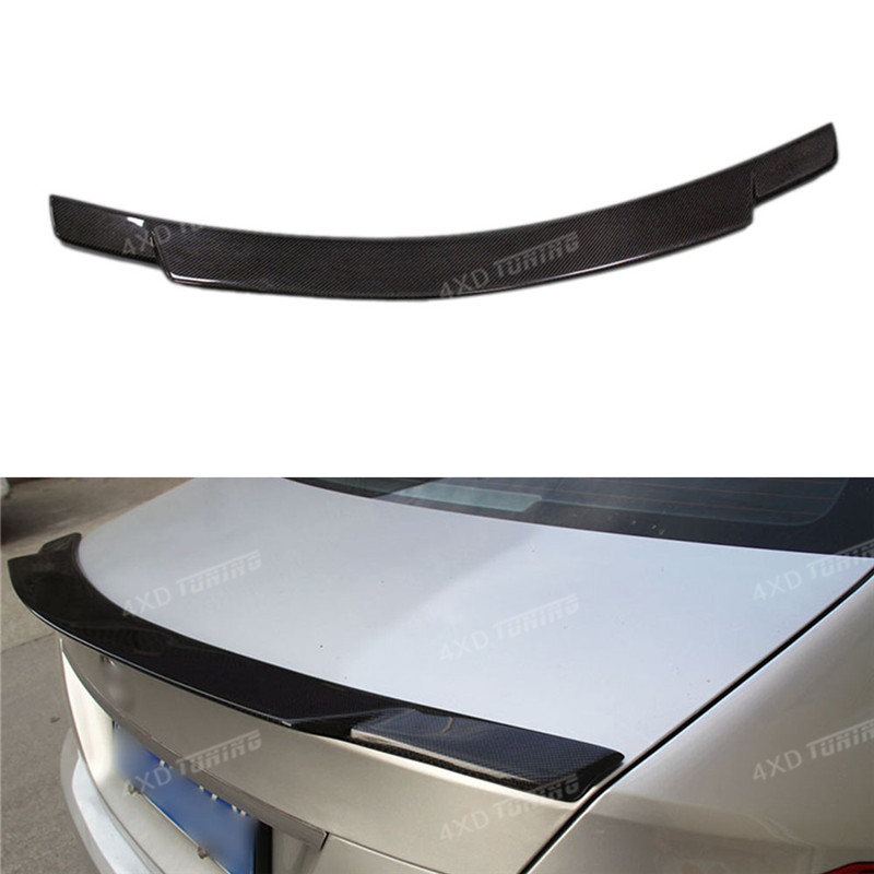 For Mercedes W204 C63 AMG Spoiler C74 Style C Class W204 Carbon Rear Trunk Spoiler Sedan 4-doors 2008-2010 2011 2012 2013 2014 car rear trunk security shield shade cargo cover for kia sportag 2007 2008 2009 2010 2011 2012 2013 black beige