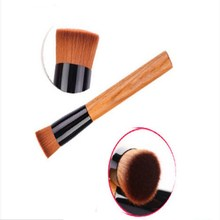 New 1pcs cosmetics make up makeup brushes flat head, concave, round wood blush tools wooden handle multi-functional mask brush