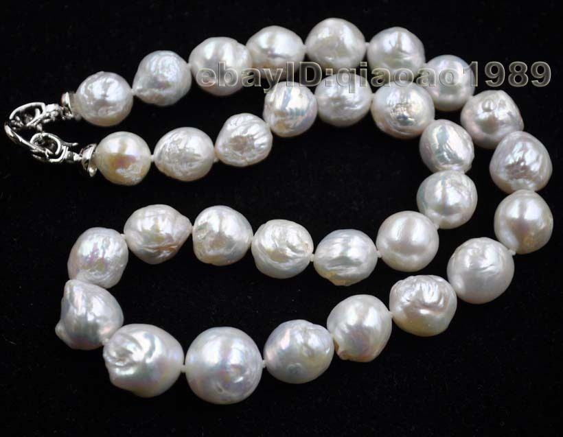 10X10 jewerly free shipping GORGEOUS 11-15mm luster Natural Furrow Kasumi pearl necklace