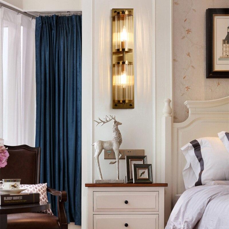 Moderne appartement salon cristal applique murale doré Noble hôtel chambre applique murale Led cuisine chevet Decro éclairage