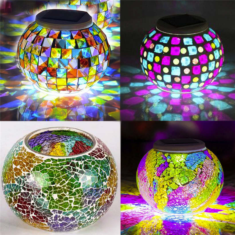 2017 New Quality DIY Color Changing Solar Outdoor Waterproof Solar Night Lights Table Lamps for Decor Wholesales 913