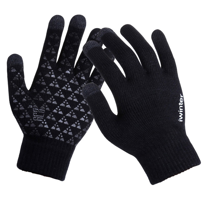 Women/Men Knitted Gloves Touch Screen High Quality Male Thicken Warm Wool Cashmere Gloves Winter Autumn Men Mitten