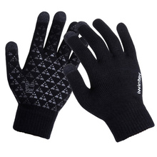 Women Men Knitted Gloves Touch Screen High Quality Male Thicken Warm Wool Cashmere Gloves Winter Autumn