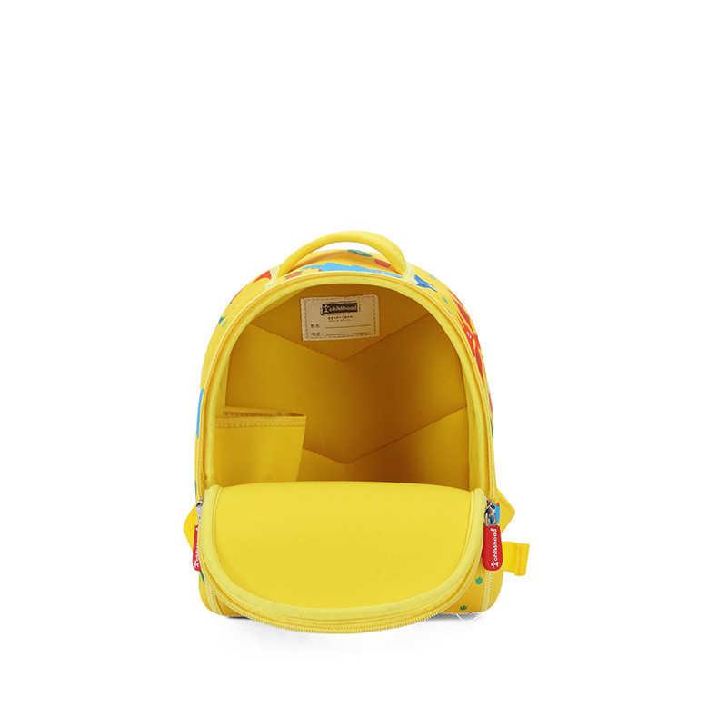 Милый мультфильм динозавра Детские рюкзаки для детского сада рюкзак желтый школьная сумка для маленьких для мальчиков и девочек mochila оптовая продажа