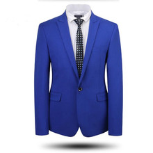 Men suits jacket tailor made bridegroom wedding tuxedos jacket high quality solid color one button party prom dress jacket