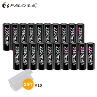 PALO 20pcs li ion rechargeable battery 18650 original 3.7V 2350mah batteries litio 18650 batterie rechargeable lithium bateria