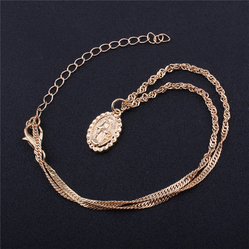 New Arrival Fashion chokers necklaces for women Double layer Chunky Jewelry necklace Pendant Neck accessories Collier A08#N (3)