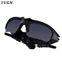 3d2daa53bb579 FUGN Esportes Equitação Óculos de Lentes de Sol Óculos de Sol Óculos de  Fones De Ouvido Sem Fio fone de Ouvido Bluetooth com Mão.