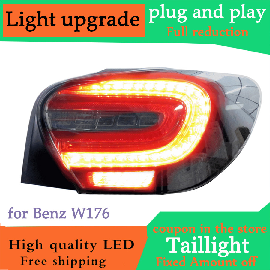 D YL Car Styling for Benz W176 Taillights 2012 2015 Mercedes Benz Tail Lamp for A180