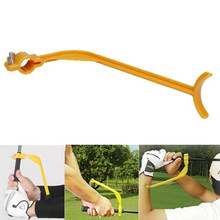 Golf Accessoires Practice Guide Golf Swing Trainer Beginner Uitlijning Golfclubs Gebaar Juiste Pols Training Aids Gereedschappen(China)