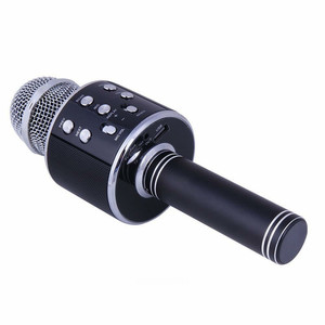Image 5 - Bluetooth mikrofon WS858 כף יד אלחוטי קריוקי מיקרופון טלפון נגן מיקרופון רמקול שיא מוסיקה KTV Microfone עבור iPhone מחשב