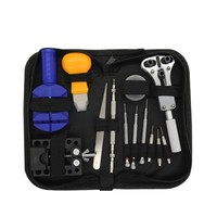 13 pcs Watch repair Open the back cover Demolition Watch band repair tool bag bell Watch service tool kit|Hand Tool Sets| |  -