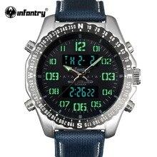 Мужские часы в Военном Стиле, светодиодный, цифровые, наручные часы, мужские, s часы, лучший бренд, люкс класс,, армейские, модные, спортивные, нейлоновые, Relogio Masculino