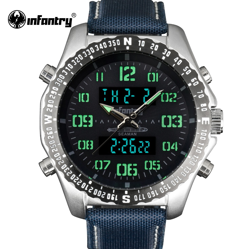 INFANTRY Military Watch Men LED Digital Wristwatch Mens Watches Top Brand Luxury 2018 Army Fashion Sport Nylon Relogio Masculino infantry military watch men square digital led wristwatch mens watches top brand tactical army sport nylon relogio masculino