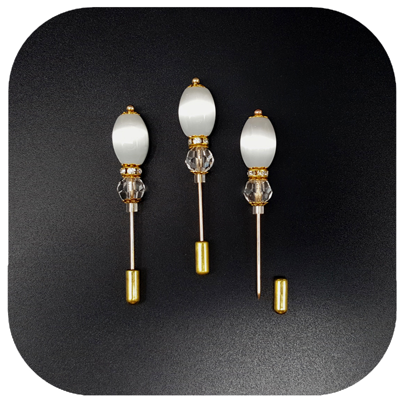 Ovalne kuglice s opalom Duga nožica igle Broš Ručno izrađene igle - Modni nakit - Foto 3