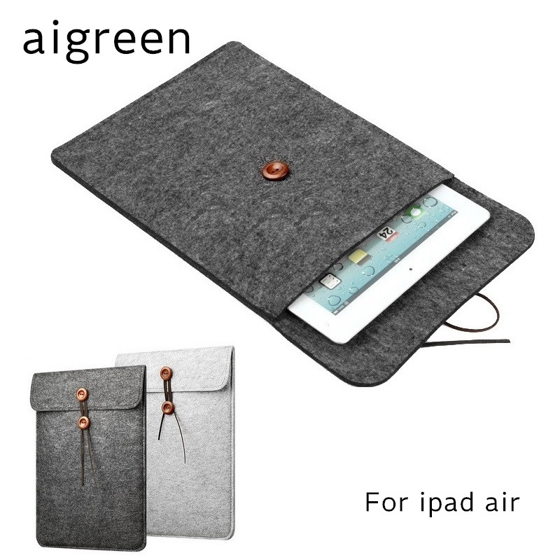 2018 Newest Hot Wool Felt Sleeve Case For ipad air 1/2, Bag For ipad pro 9.7 inch, For 9 Tablet, Wholesales, Free Drop Shipping tablet liner sleeve pouch bag for new ipad 9 7 inch 2017 soft tablet cover case for ipad air 2 1 pro 9 7 funda bag for ipad mini
