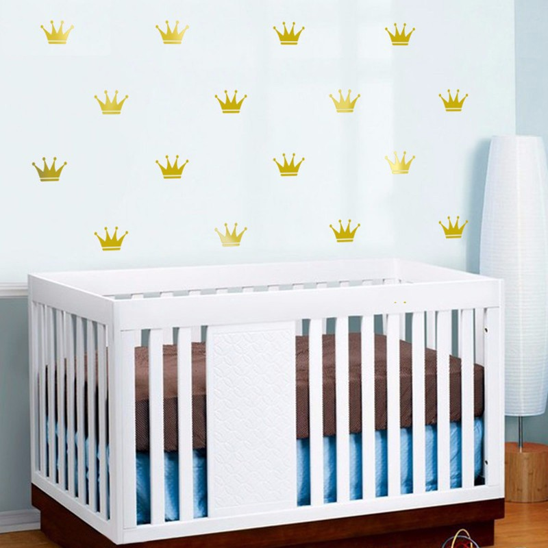 Crown Wall Decal Vinyl Sticker - Cartoon Style Home Decor - Kids Wall Sticker Art Mural - Creative Small Pattern Wall Decor