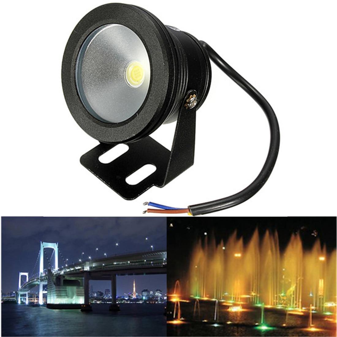 1pc 10W 12V Waterproof LED Flood Light Underwater Fountain Light Wash Pond Fish Tank Aquarium Light Spot Lamp Outdoor Lighting