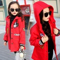 Girls Clothing 2016 Teenager Girls Winter Jackets Wool Coat Outerwear Cartton Mickey Coat Kids Jacket for Girls Children Clothes