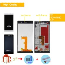 For HUAWEI P7 Lcd Display Touch Screen Digiziter LCD Complete Assembly With Frame P7 P7-L00 P7-L05 P7-L10 Full LCD Replacement
